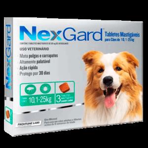 Antipulgas e Carrapatos Nexgard para Cães de 10,1 a 25 kg