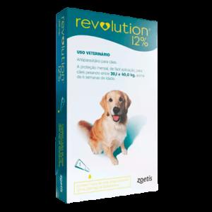 Antipulgas e Carrapatos Revolution 12% Cães 20,1 a 40 kg 240mg 1 Pipetas